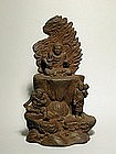 Zushi, ceramic sculpture of Fudo Myoo, Japan 19th c