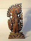 Wooden sculpture of Fudo Myoo, Japan, Meiji period