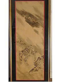 Painting of tiger and dragon, Japan, Edo period