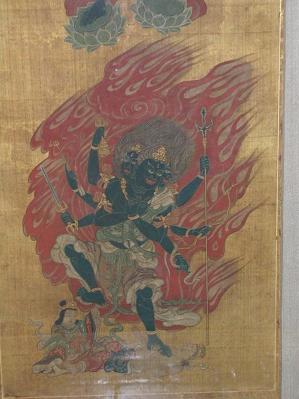 Painting of two figures  from godaison, Japan, 18th c