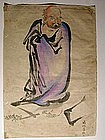 Painting, standing Daruma, Japan, 19th century