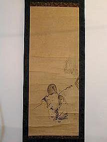 Scroll painting, Fukurokuju, Tanyu style, Japan, 19th c