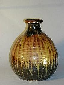 Ship�s sake bottle, stoneware, Japan, Edo period
