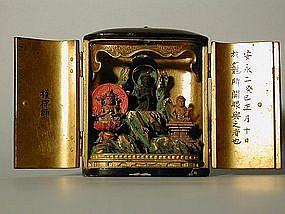 Zushi, Shaka triad, Japan, 18th century