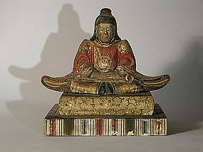 Small sculpture of a patriarch, Japan, Edo period