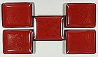 Set of red lacquer plates, Japan, 20th century