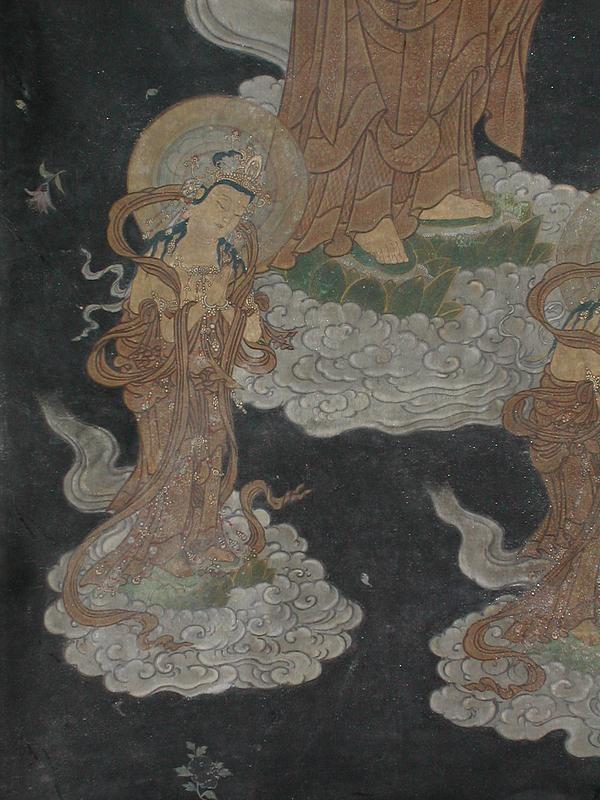 Painting, descent of Amida Buddha, Japan, 18th c.