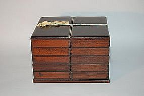 Stacking boxes for kozuka, Japan, Meiji period