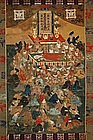 Scroll painting, Death of Buddha, Japan, early 19th c