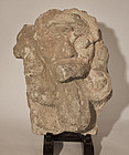 Ancient Mayan Pre Columbian stucco fragment