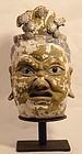 Sung-Ming Dynasty stucco temple Lokapala head