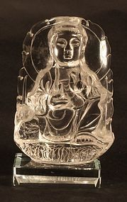 Quartz crystal carving of Guan Yin - Quan Yin