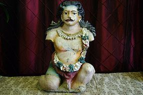 Hindu stucco statue of Krishna's father Vasudeva