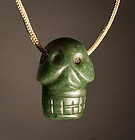 Mayan Jade skull bead