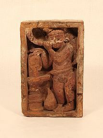Bengali Terracotta temple carved brick 17th c - 18th c