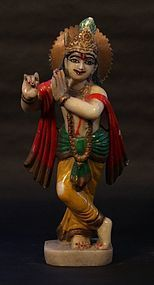 Hindu 19th c temple statue of Krishna