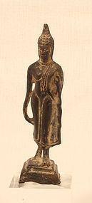 Thai Buddhist Sukhothai walking Buddha figure