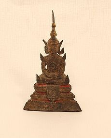 Rattanakosin cast bronze seated  Buddha