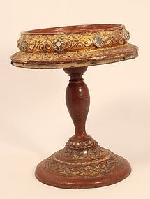 Late 19th c Burmese temple altar offering stand