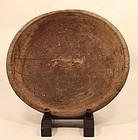 17-18thc Japanese primitive elm wood bowl