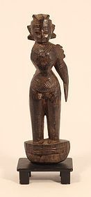 Hindu Temple Rosewood carving of Lakshmi