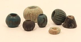 Egypt 2300-1600 bc  faience bead group