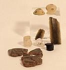 Pre Columbian mix lot Mixtec Mayan Chavin quartz obsidian clay