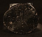 Pre Columbian Chavin 1200-200 BC  anthracite mirror