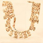 Pre Columbian Chimu abstract bird form bead necklace inlaid