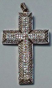 Vintage pave Diamond cross approximately 5 cts