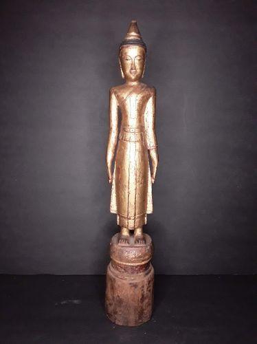 Ayutthaya Standing wood Temple Buddha