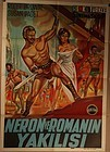 Revenge of the Gladiators 1962 movie poster Turkish release