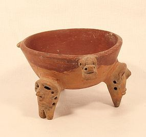 COSTA RICA DIQUIS - PACIFIC SOUTH STYLE TRIPOD LEG BOWL