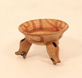 Costa Rica Nicoya Tripod leg bowl Pre Columbian