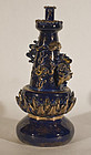 Antique Chinese Porcelain oil lamp with dragon in cobalt blue