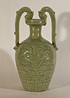 Antique Chinese Tang style Ewer in Longquan glaze