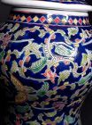 Chinese lidded enamel decorated urn with butterflies