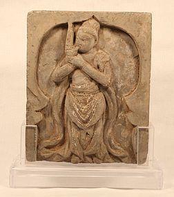 Sung Dynasty molded grey Terracotta Tomb brick