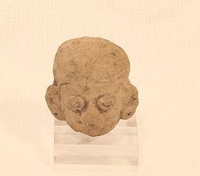 Mayan  terracotta head fragment