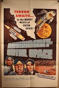 1962 Assignment Outer Space Italian movie poster