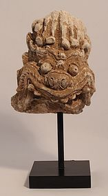 Thailand Haripunjaya 9-13th c Stucco Mara face fragment