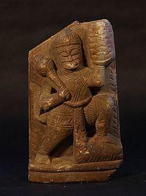 19thc Hindu stone figure of the Monkey God Hanuman