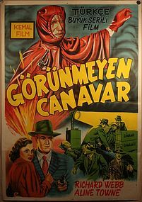 Serial Movie Poster The Invisible Monster / Phantom Ruler USA 1950