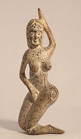 Chinese archaistic jade female nude figure