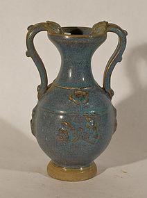 Vintage Chinese studio jun yao vase