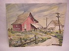 OLIVE MALSTROM CARL watercolor Pacific NW  artist