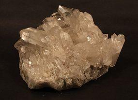 Silvery Quartz crystal point cluster  tea lite  votive