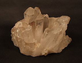 Fine Quartz crystal tea lite votive with fantastic points