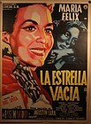 "Vintage Maria Felix movie poster"" La Estrella Vicia"" The Empty Star 58"