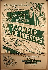 Original 1940 Chamber of Horrors Poster Style A lilly Palmer